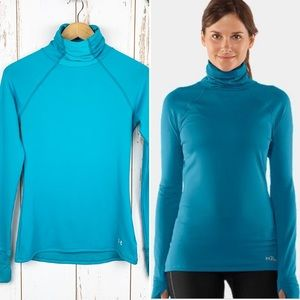 Under Armour Turquoise Fitted Slouchy Turtleneck